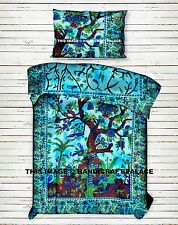Tree of Life Mandala Duvet Set Doona Cover Indian Reversible Bedding Blanket Set