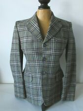 Vtg Equestrian Riding Coat Jacket S Wool Donegal Tweed Handmade in England