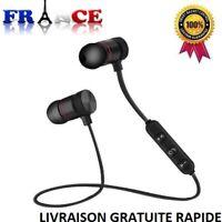 Casque Ecouteurs Bluetooth 4,2 Intra-Auriculaires Sans Fil Earphone Magnetic