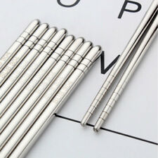 "304 Stainless Steel 8.9""/22.5cm Chopsticks Non-Slip Sushi Chop Sticks Kids Food"