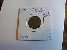 VERY NICE 1902 INDIAN HEAD PENNY WITH MOST OF LIBERTY(PLEASE SEE PICS)
