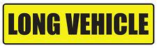 2 X LONG VEHICLE STICKERS CAR VAN LORRY TAXI HGV