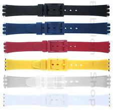 Swatch Compatable Replacement Resin Watch Strap - 6 Colours + Matching Buckle