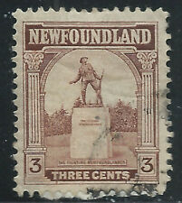 Newfoundland #133(9) 1923 3 cent brown WAR MEMORIAL Used