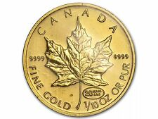 1999 1/10oz Gold Canada Maple Mint Sealed (20 YEARS ANS) 20th Anniversary Privy