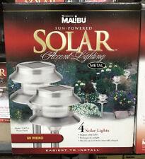 (4) Intermatic Malibu LED Outdoor Solar Landscape Garden Pathway Lights NEW