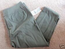 NEW NWT Laura Ashley green/olive/secret garden capri / crop pants, womens 10 $58