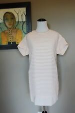 NWT J Crew Tall Pleated Chiffon T Shirt Dress Light Blush Sz 12 12T C3152 $148
