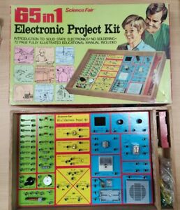 Vintage 65 In 1 Science Fair Electronic Project Kit By Tandy, 1972, tested