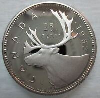 1982 CANADA 25 CENTS PROOF QUARTER HEAVY CAMEO COIN