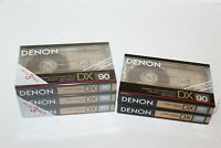 Denon DX 90 Cassette Tapes Brand New Sealed Blank (5 In Total)