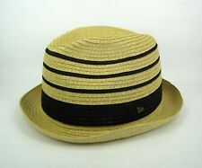 New Era Men's Original EK Collection Paper Straw Fedora Trilby Hat - Small