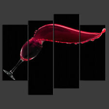 RED WINE GLASS SPLASH KITCHEN DESIGN CANVAS PRINT PICTURE READY TO HANG