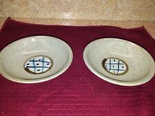 "Japanese set of 2 grey small dipping bowls, 5 1/4"" x 1 3/4"" deep"