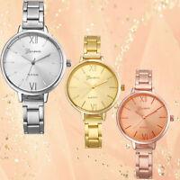 Geneva Fashion Women Watch Small Steel Band Bracelet Analog Quartz Wrist Watches
