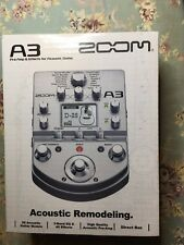 Zoom A3 Pre-Amp and Effects for Acoustic Guitar NIB