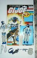 1985  Gi Joe Cobra ARAH SNOW SERPENT Action Figure 100% Complete full File Card