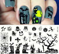 BORN PRETTY Halloween Nail Art Stamping Templates Image Stencil Plates