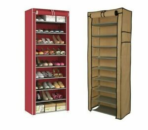Multi-Tiers Dust Proof Portable Steel Stackable Non-Woven Fabric Storage Cabinet
