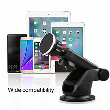 Retractable Magnetic Car Dash Mount Dock Window Holder Universal Phone Tablet