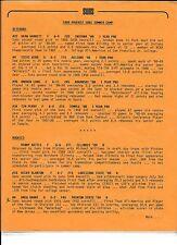 1989 Phoenix Suns Summer Camp Roster,single