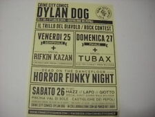 DYLAN DOG flyer depliant pubblicitario  IL TRILLO DEL DIAVOLO ROCK CONTEST !!