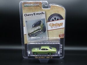 1968 CHEVROLET NOVA SS VINTAGE AD CARS 3 2020 GREENLIGHT GREEN MACHINE CHASE