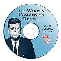 Warren Commission Report-JOHN F KENNEDY Killing-JFK Assassination-26 VOLUMES-DVD