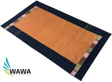 Gabbeh Teppich Grau 70x140 cm Handgeknüpft  ~ reine Schurwo ~ Gold ~ G56