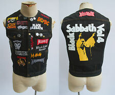 heavy metal Black Sabbath Slayer Motorhead Xelement Motorcycle Denim Vest SMALL