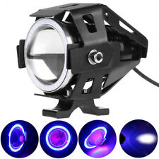 2x 125W 2800LM CREE U7 Blue LED Motorcycle Driving Fog Lamp Spot light Headlight