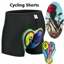 Gel 3D Padded Men Women Cycling Underwear Bicycle Riding Short Black Pants