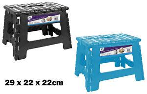 Heavy Duty Foldaway Plastic Step Stool Light Weight Non Slip Multi Propose