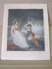 """Gravure de 1801 Cardon et Singleton """"Innocent captivation Amusement pastorale"""""""