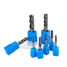 8pcs 4 Flutes Carbide End Mill Set Tungsten Steel Milling Cutter Tool Straight S