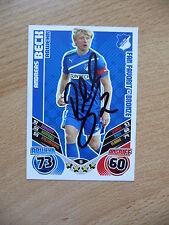 Match Attax 2011/12 Andreas Beck #98 original signiert !