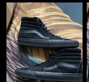 Size UK 10.5  VANS Sk8-Hi Black/BLACK - SK8 HI