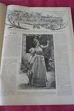 LA MODE PRATIQUE 2èmeSEMESTRE 1894 BELLE RELIURE ILLUSTRATIONS NOIRE ET COULEURS