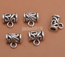 30pcs Tibetan silver bead charm beads bracelet connector bails 11MM H3124