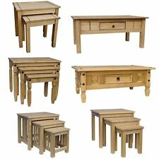 Corona Panama Coffee Table Nest Of Tables Solid Waxed Pine Mexican Furniture