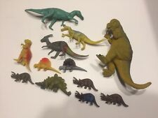 Vintage Dinosaur Toy Lot of 12 Hard Plastic China Jurassic Paleo Collect
