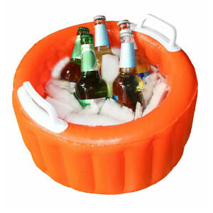 Floating Inflatable Beer Cooler Ice Beer Bucket Summer Pool Party Swimming Pool