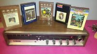 Vintage  Milovac AM/FM Stereo Receiver With 8 Track Tape Player model RA-1150