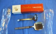 New listing 2 Stainless Steel Serving Spoons Rogers & InSil Co. w/Ob New/Old Stock Lot Q