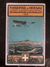 1925 Zurich Switzerland Picture Postcard  cover Military Airmail Fest