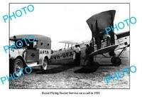 OLD LARGE PHOTO ROYAL FLYING DOCTOR SERVICE QANTAS PLANE c1931