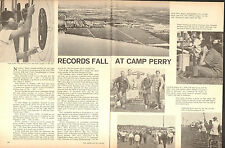 1970 2 Page Print Article of NRA National Rifle & Pistol Champs Camp Perry OH