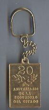 Vintage Cuba key chain 20 years from the foundation of Cuban secret service