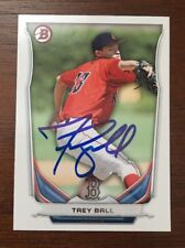 TREY BALL 2014 BOWMAN AUTOGRAPHED SIGNED AUTO BASEBALL CARD BP2 RED SOX