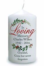 Personalised Memorial Christmas Candle Sentiments Keepsake  #1
